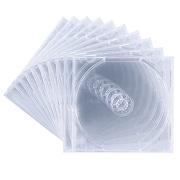 FCD-PN10C [DVD/CDケース(1枚収納) 10枚セット クリア]