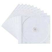 FCD-PN10W [DVD/CDケース(1枚収納) 10枚セット ホワイト]