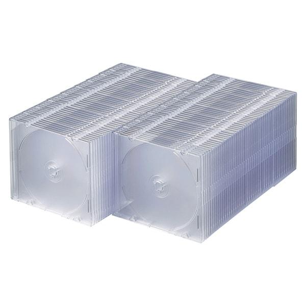 FCD-PU100C [DVD/CDケース(1枚収納) 100枚セット クリア]