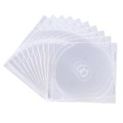 FCD-PU10C [DVD/CDケース(1枚収納) 10枚セット クリア]