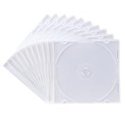 FCD-PU10MW [DVD/CDケース(1枚収納) 10枚セット マットホワイト]