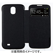 BRSW000MBK [GALAXY S4 VIEW CASE SAFFIANO PATTERN_BLACK]