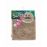 SUSU(スウスウ)バスマット抗菌50×80cmライトブラウン [SUSU(スウスウ)シリーズ]