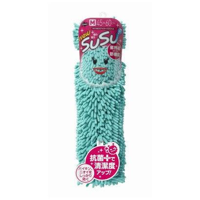 SUSU(スウスウ)バスマット(ロールパッケージ)抗菌45×60cmターコイズブルー [SUSU(スウスウ)シリーズ]