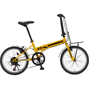 HUMMER FDB207-R4 [折りたたみ自転車 20型 外装7段変速 イエロー]
