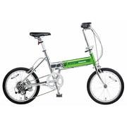 B-TW872BG [折りたたみ自転車 ライトウイング 18型 外装7段変速 ウイングライムグリーン]
