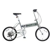 B-TW872BS [折りたたみ自転車 ライトウイング 18型 外装7段変速 ウイングシルバー]
