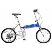 B-TW872BV [折りたたみ自転車 ライトウイング 18型 外装7段変速 ウイングスカイブルー]