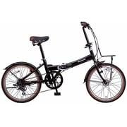 B-BH063BB [折りたたみ自転車 ビーンズハウス 20型 外装6段変速 ピュアブラック]