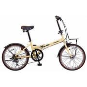 B-BH063BT [折りたたみ自転車 ビーンズハウス 20型 外装6段変速 ミルクティ]