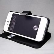 MINIOPAL CASE 21168 [iPhone5/5S用 カード挿入可 手帳型・左右開閉式合皮ケース 合皮 ブラック]