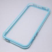 MINIOPAL CASE 20567 [iPhone5/5S用  ストラップ穴付き シンプルバンパー シリコン ブルー×クリア]