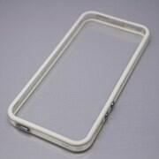MINIOPAL CASE 20819 [iPhone5/5S用  ストラップ穴付き シンプルバンパー シリコン ホワイト×クリア]