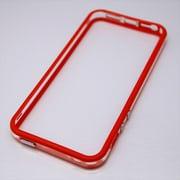 MINIOPAL CASE 21014 [iPhone5/5S用  ストラップ穴付き シンプルバンパー シリコン レッド×クリア]