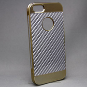 MINIOPAL CASE 20062 [iPhone5/5S用 カーボン調高質ケース アルミ シルバー×シルバー]