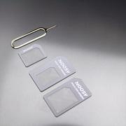 MINIOPAL CASE 20000 [3サイズ入りSIM変換アダプターセット[nano/micro/U-SIM変換アダプタ+ピン] プラスチック ホワイト×グレー]