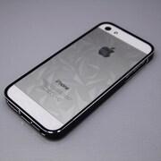MINIOPAL CASE 20666 [iPhone5/5S用 上下組み込み式・アルミ調バンパー アルミ ブラック×シルバー]