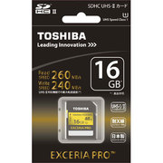 SDXU-016GA [EXCERIA PRO UHS-II SDHCメモリカード 16GB]