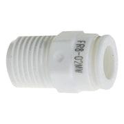 FR6-01MW [ファイブ樹脂メイルコネクタ W(白)6mm・R1/8]