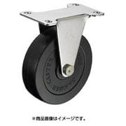320ER-R100-BAR01 [オールステンレス E型固定 ゴム車100mm]