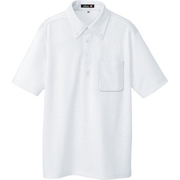 10599-001-L [ボタンダウン半袖ポロシャツ ホワイト L]