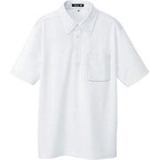 10599-001-LL [ボタンダウン半袖ポロシャツ ホワイト LL]