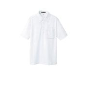 10599-001-M [ボタンダウン半袖ポロシャツ ホワイト M]