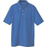 10599-006-LL [ボタンダウン半袖ポロシャツ ブルー LL]