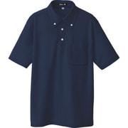10599-008-L [ボタンダウン半袖ポロシャツ ネイビー L]