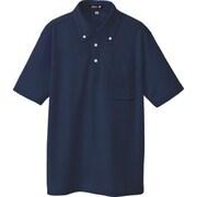 10599-008-LL [ボタンダウン半袖ポロシャツ ネイビー LL]