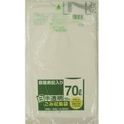 HT72-HCL [HT72容量表記入り白半透明ゴミ袋70L 10枚]