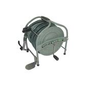 HSA-20-G [テツノホースリール(グリーン)21m防藻ホース レバーノズル ペタル付]