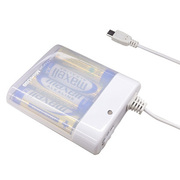BJ-XP1 WH [MicroUSB搭載乾電池式充電器  単3×4本タイプ ホワイト]