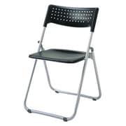 SS-A027-BK [アルミ折りたたみ椅子(スタッキング) アルミパイプ ブラック]