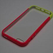 MINIOPAL SELLCTION 25258 [iPhone5/5s用 2色バンパー+クリアボード付き プラスチック ピンク&イエロー]