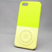 MINIOPAL SELLCTION 22165 [iPhone5/5s用 カラフル 上下組み込み式 スピーカーモチーフケース 緑/黄色]