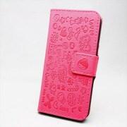 MINIOPAL SELLCTION 22332 [iPhone5/5s用 左右開閉式 メルヘン手帳型ケース レザー ピンク]