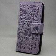 MINIOPAL SELLCTION 22776 [iPhone5/5s用 左右開閉式 メルヘン手帳型ケース レザー 薄紫]