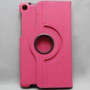 MINIOPAL SELLCTION 24336 [NEXUS7(2013年発売モデル) 360度回転式、カードポケット多数・ペン差し有り多機能ケース キャンパス地 ピンク]
