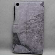 MINIOPAL SELLCTION 24138 [NEXUS7(2013年発売モデル) / 世界地図 柄プリント 合皮 グレー]