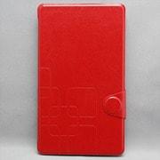 MINIOPAL SELLCTION 23964 [NEXUS7(2013年発売モデル) / シンプル柄入りケース 合皮×プラスチック レッド]