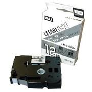 LM-L512BM [ラベルプリンタ ビーポップミニ 12mm幅テープ つや消し銀地黒字]