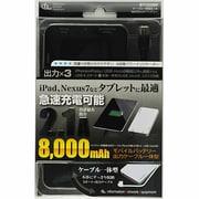 BT1C0280BK [モバイルバッテリー8000mAh USB出力:2ポート 最大合計:2.1A]