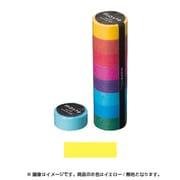 MST-MKT01-YE [マスキングテープ ベーシック(COLORFULLY COLORFUL)/マステ (イエロー/無地)]