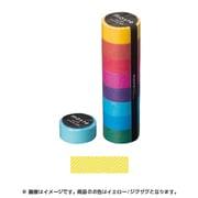 MST-MKT02-YE [マスキングテープ ベーシック(COLORFULLY COLORFUL)/マステ/パターン (イエロー/ジグザグ)]