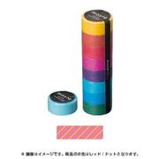 MST-MKT02-PK [マスキングテープ ベーシック(COLORFULLY COLORFUL)/マステ/パターン (ピンク/ストライプ)]
