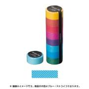 MST-MKT02-BL [マスキングテープ ベーシック(COLORFULLY COLORFUL)/マステ/パターン (ブルー/ストライプ)]