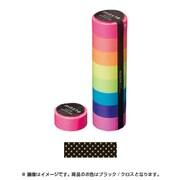 MST-MKT08-BK [マスキングテープ ベーシック(VISIBLE NEON)/マステ/パターン (ブラック/クロス)]