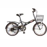 FD206DX-II 3119 [折りたたみ自転車 20型 外装6段変速 カゴ付 ダークグリーン]