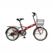 FD206DX-II 3120 [折りたたみ自転車 20型 外装6段変速 カゴ付 レッド]